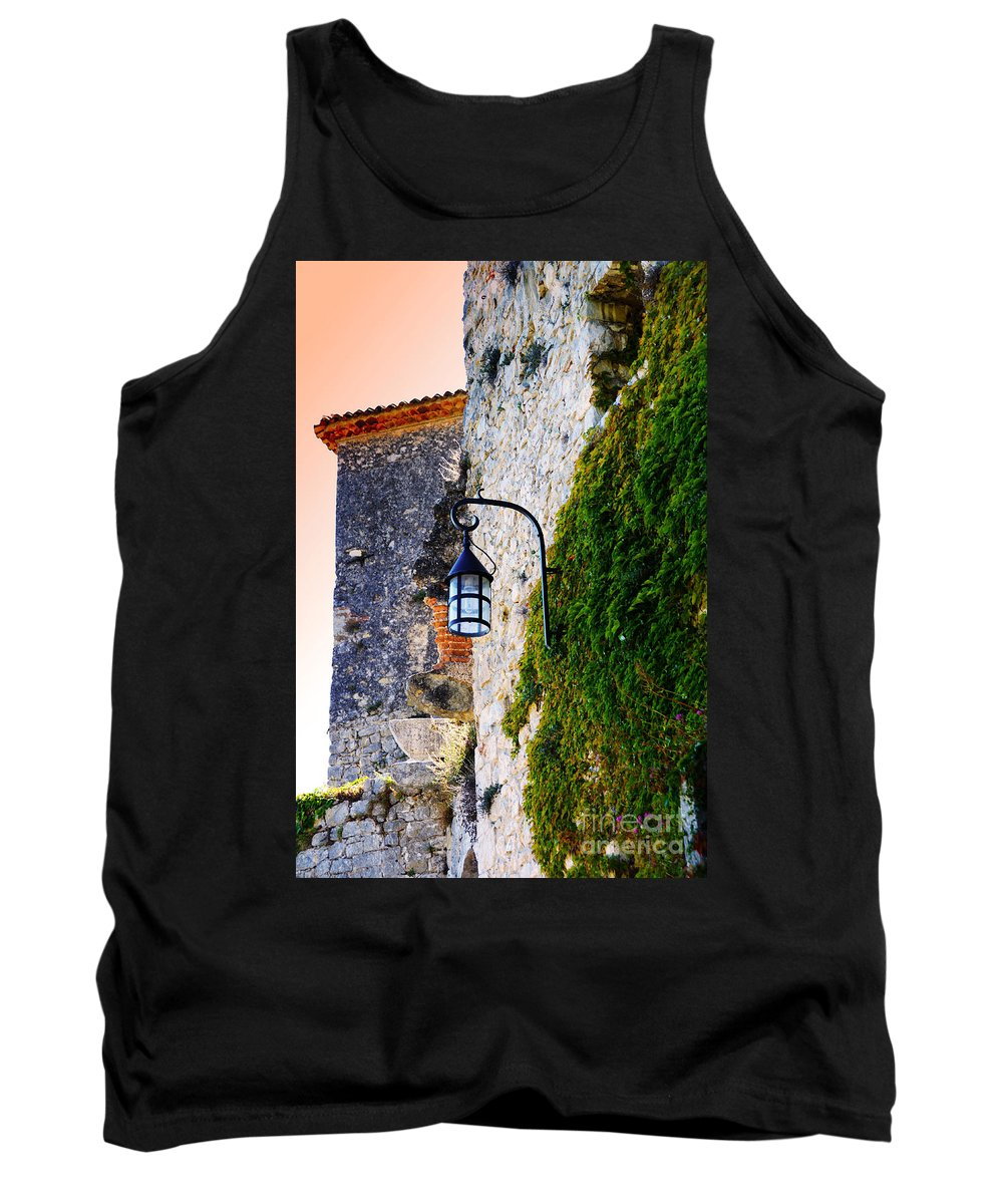 Eze Tank Top featuring the photograph Light On Old Wall by Phill Petrovic