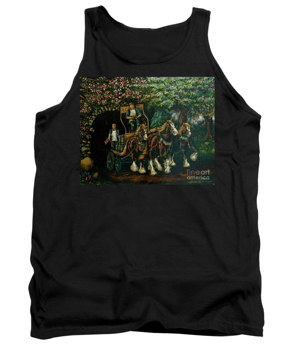 Tank Top featuring the painting Light Touch by Linda Simon