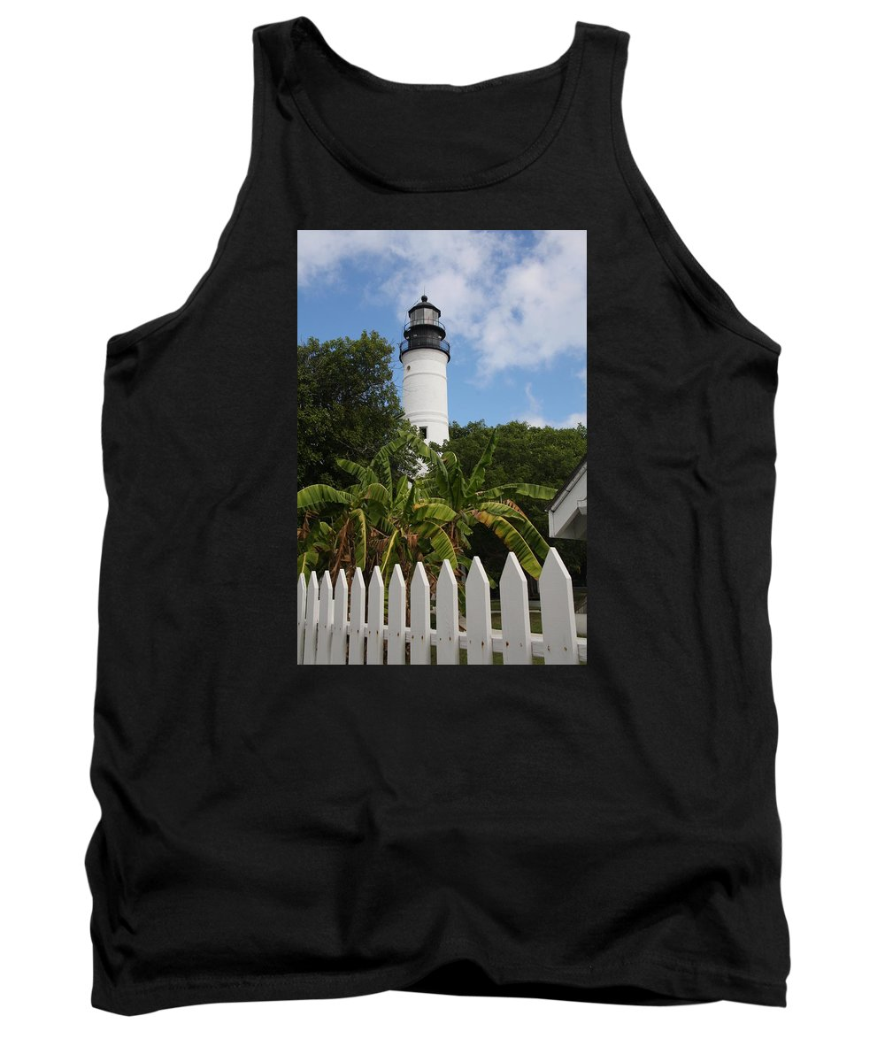 Ligthouse Tank Top featuring the photograph A Sailoirs Guide On The Florida Keys by Christiane Schulze Art And Photography