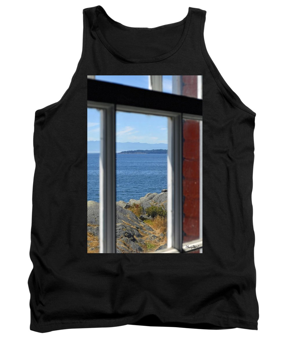 Ocean Tank Top featuring the photograph Lightkeepers View by Shanna Hyatt