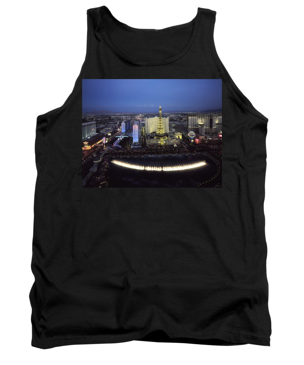 Las Vegas Tank Top featuring the photograph Lights Of Vegas by Mountain Dreams