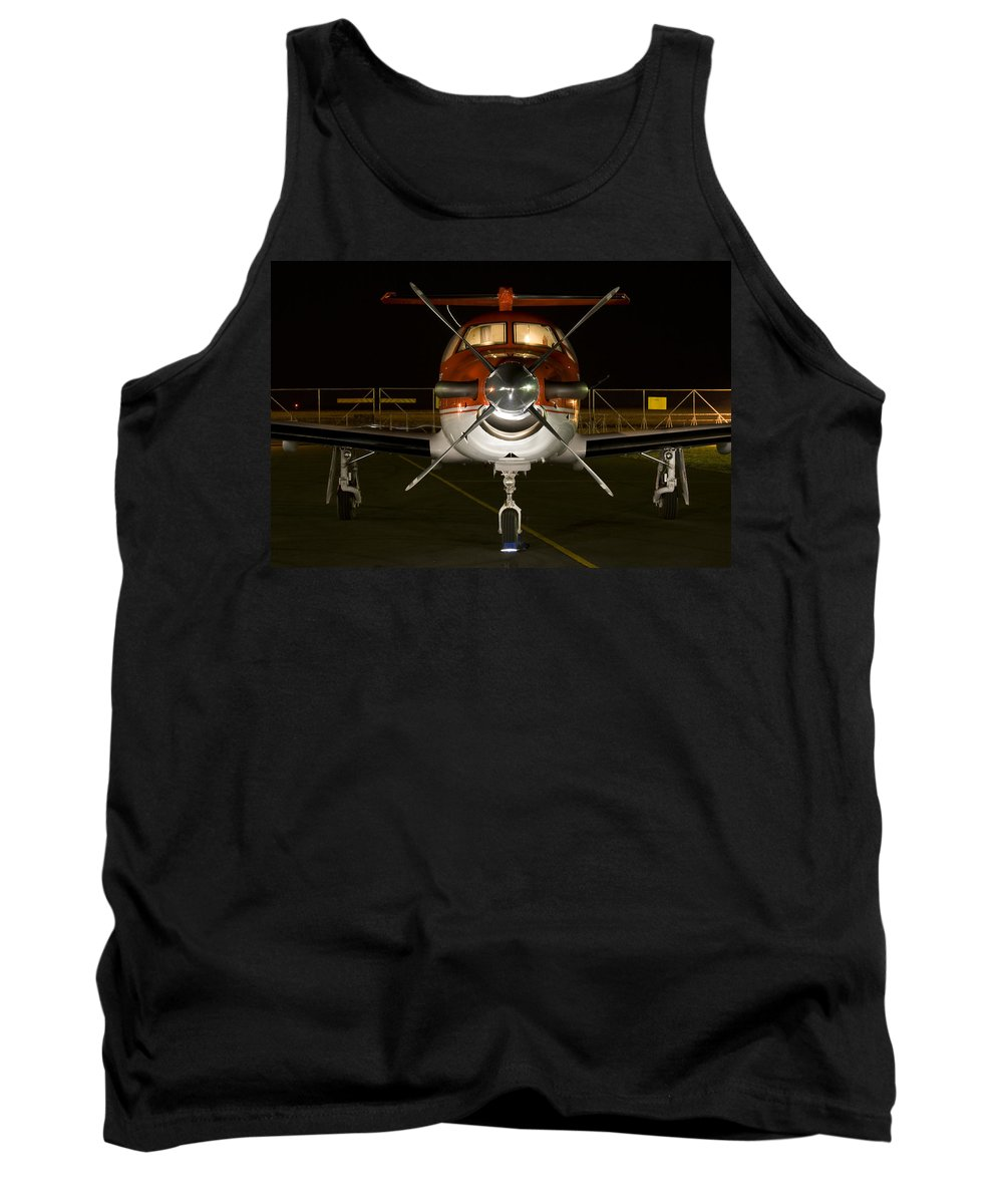 Pilatus Pc12 Golden Eagle Tank Top featuring the photograph Lights On by Paul Job