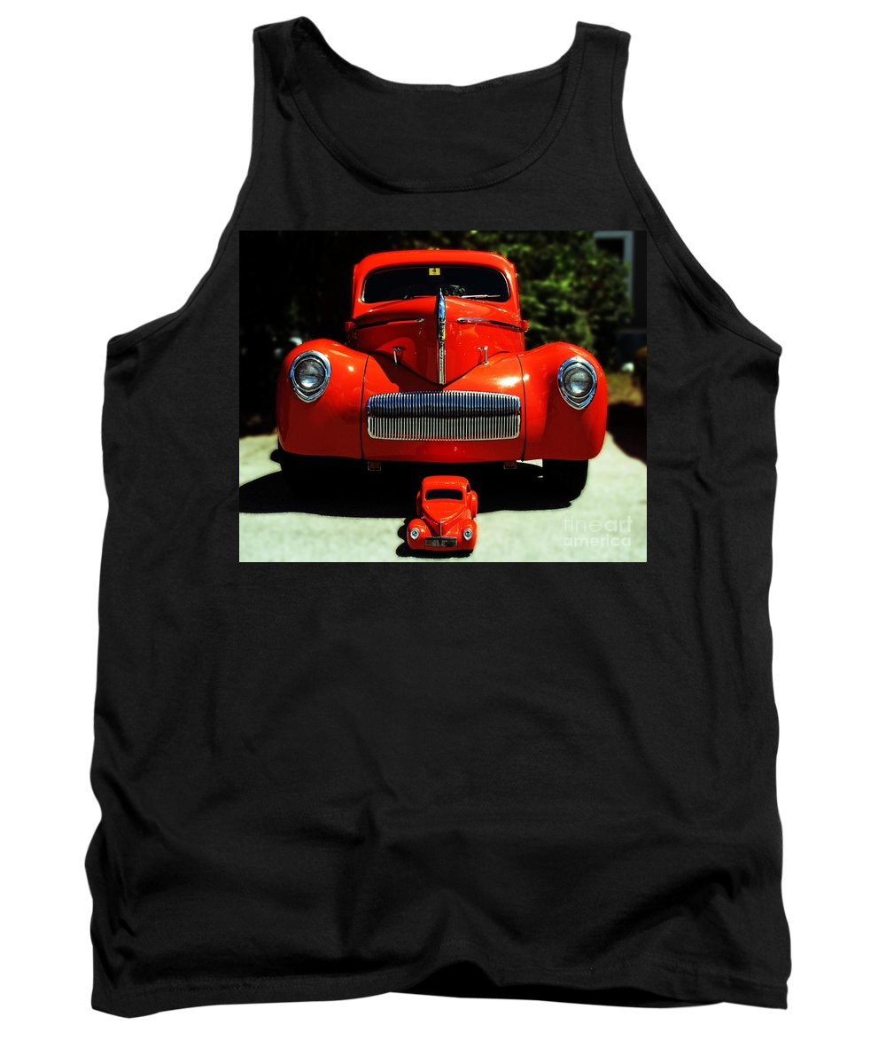 Car Tank Top featuring the photograph Like Father Like Son by Kevin Fortier