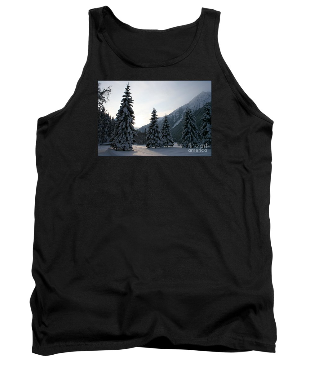 Snow Tank Top featuring the photograph Like Powdered Sugar by Christiane Schulze Art And Photography