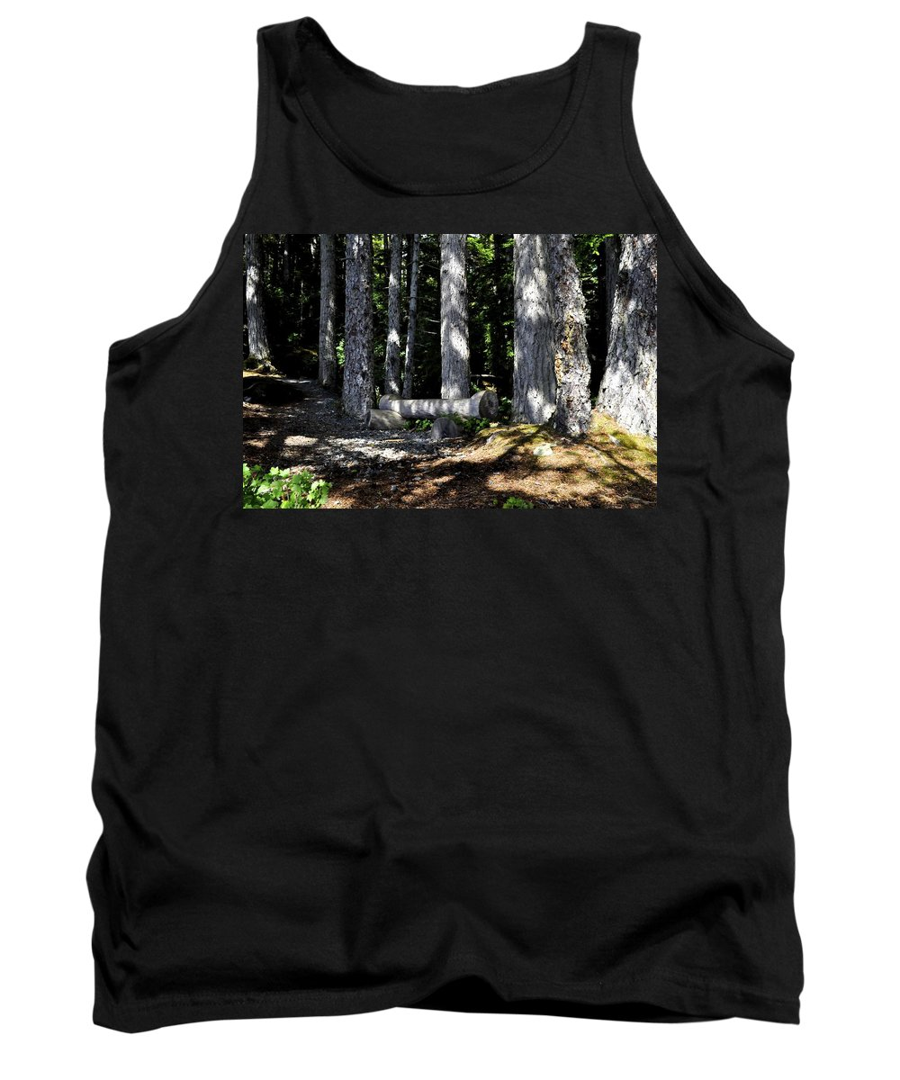 Logs Tank Top featuring the photograph Lincoln Logs by Cathy Mahnke