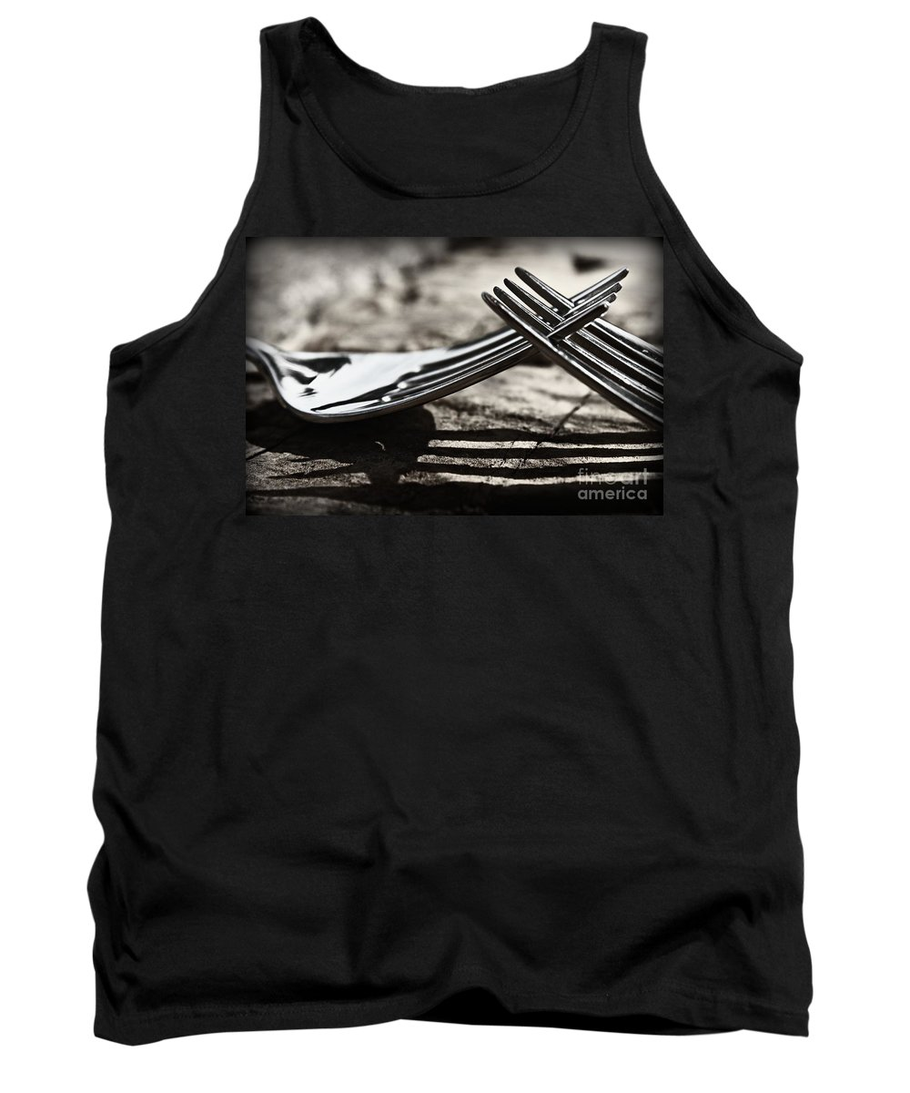 Forks Tank Top featuring the photograph Lines And Shadows by Clare Bevan