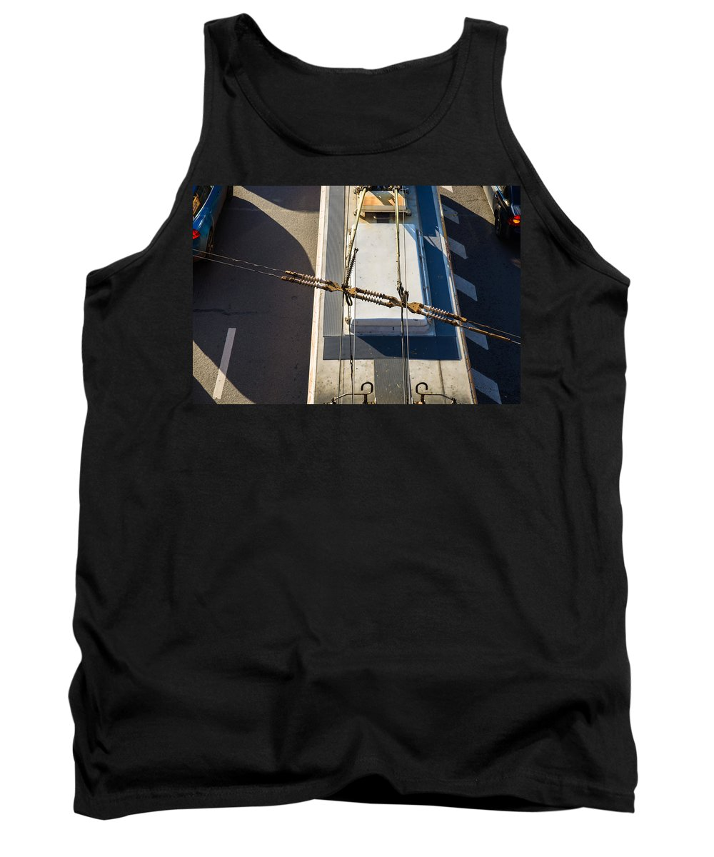 Bus Tank Top featuring the photograph Lines Of Civilization by Alexander Senin