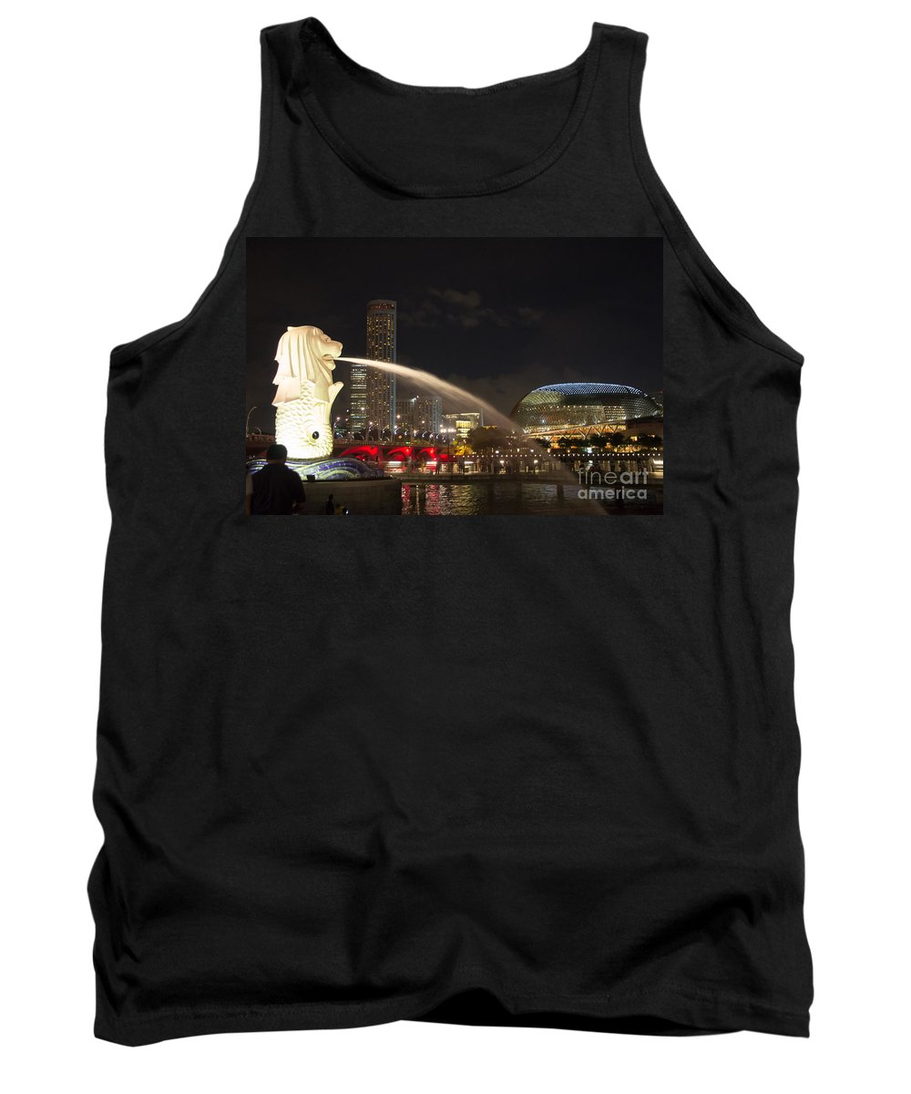 Asia Tank Top featuring the photograph Lion City by Agnes Caruso