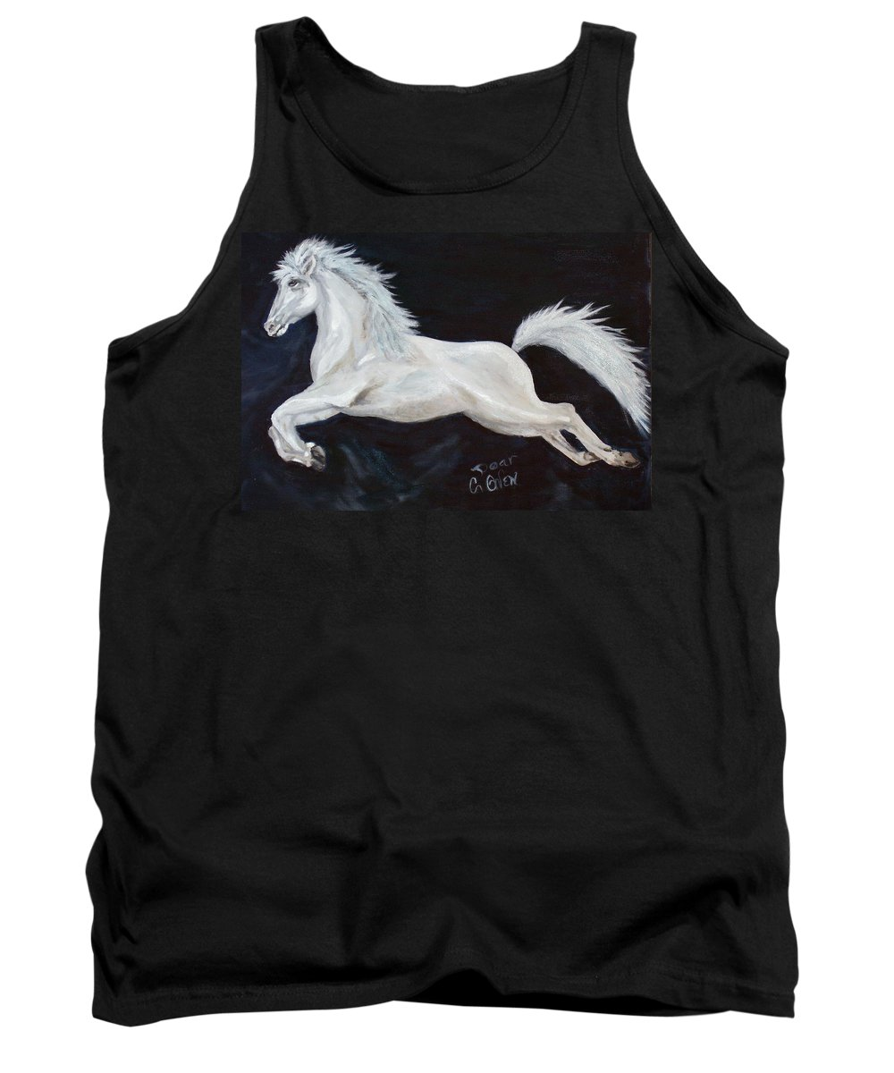 Horse Tank Top featuring the painting Lipizzaner Capriole by Caroline Owen-Doar