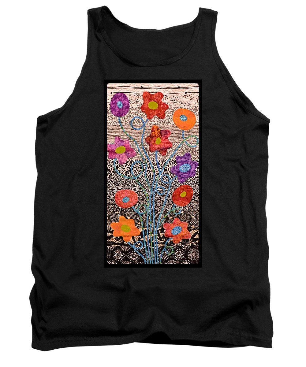 Idaho Falls Tank Top featuring the photograph Liquid Flowers by Image Takers Photography LLC - Carol Haddon