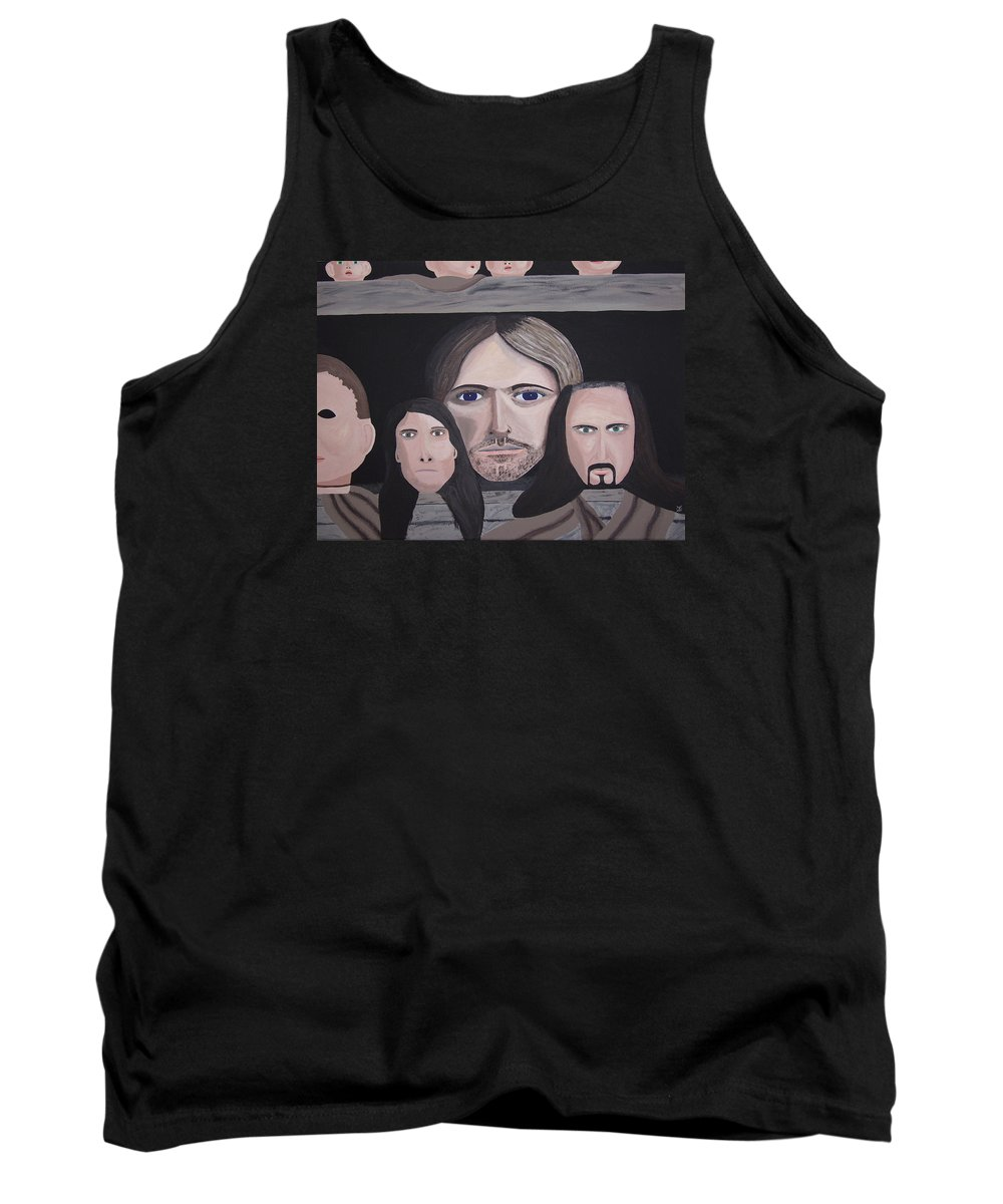 Original Tank Top featuring the painting Lithium by Dean Stephens