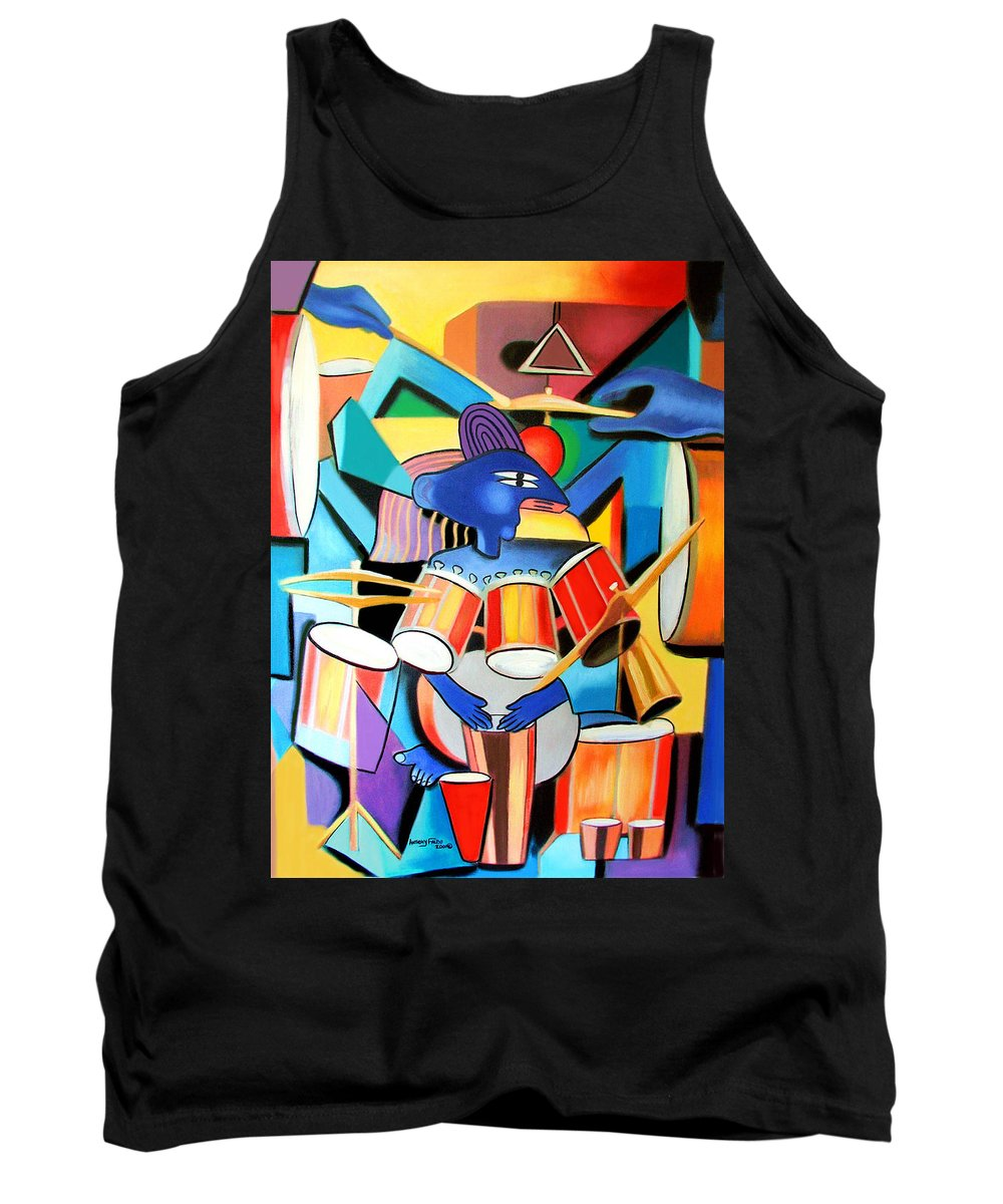 Little Drummer Boy Tank Top featuring the painting Little Drummer Boy by Anthony Falbo