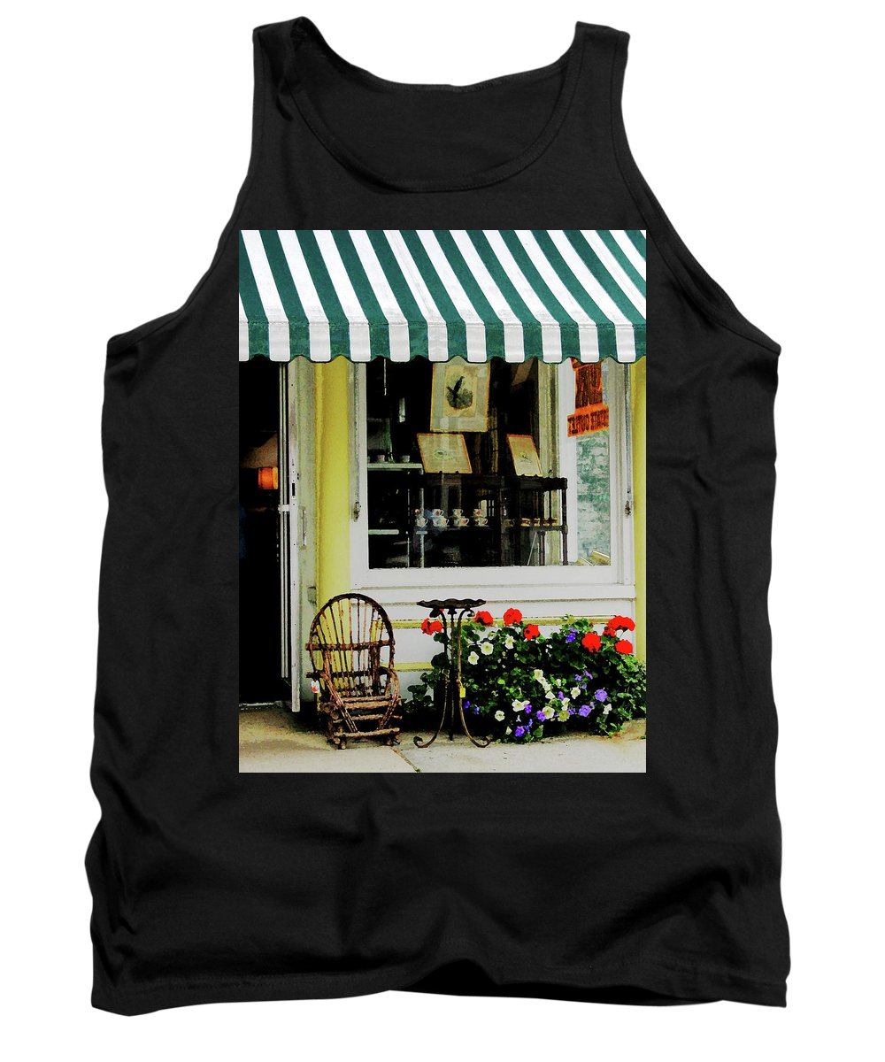 Rocking Chair Tank Top featuring the photograph Little Rocking Chair By Antique Store by Susan Savad