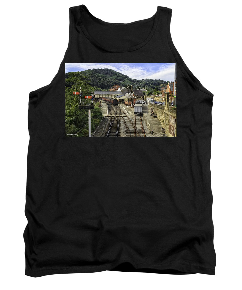 Wales Tank Top featuring the photograph Llangollen Railway Station by Fran Gallogly