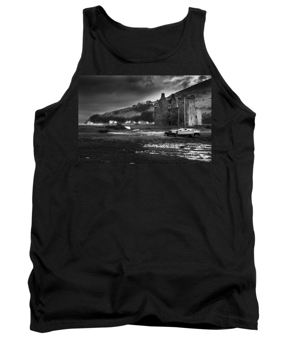 Lochranza Tank Top featuring the photograph Lochranza Castle by Ross G Strachan