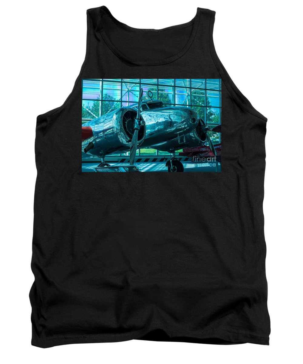 10e Tank Top featuring the photograph Lockheed Electra by Rich Priest
