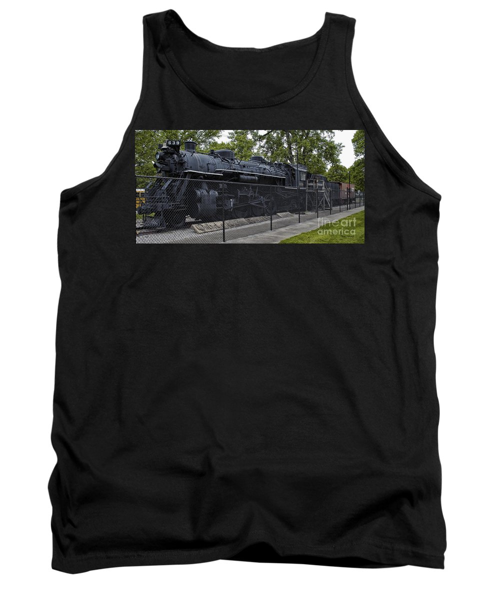 Locomotive Tank Top featuring the photograph Locomotive 639 Type 2 8 2 Side View by Thomas Woolworth