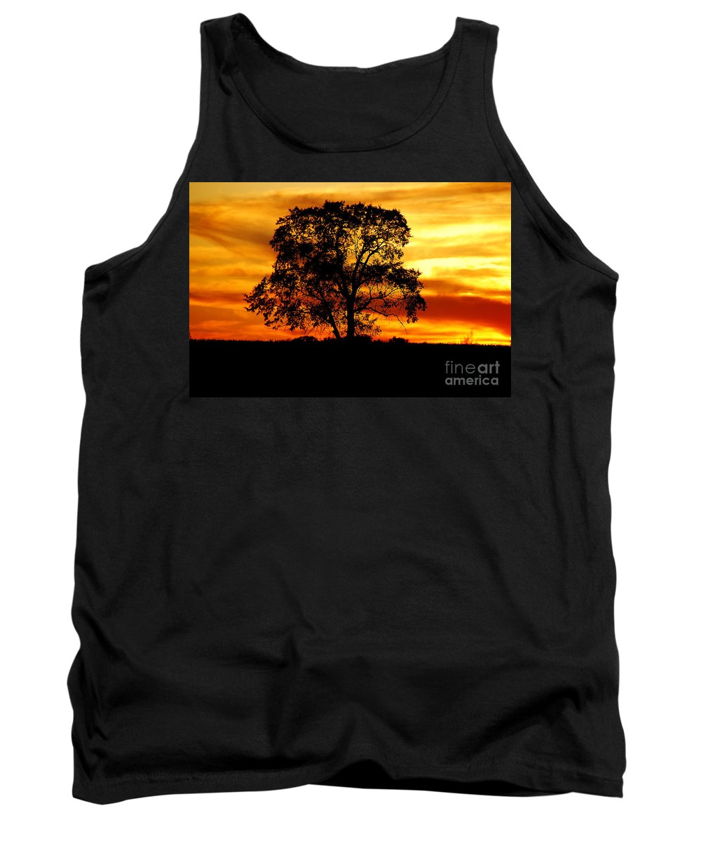 Tree Tank Top featuring the photograph Lone Tree by Mary Carol Story