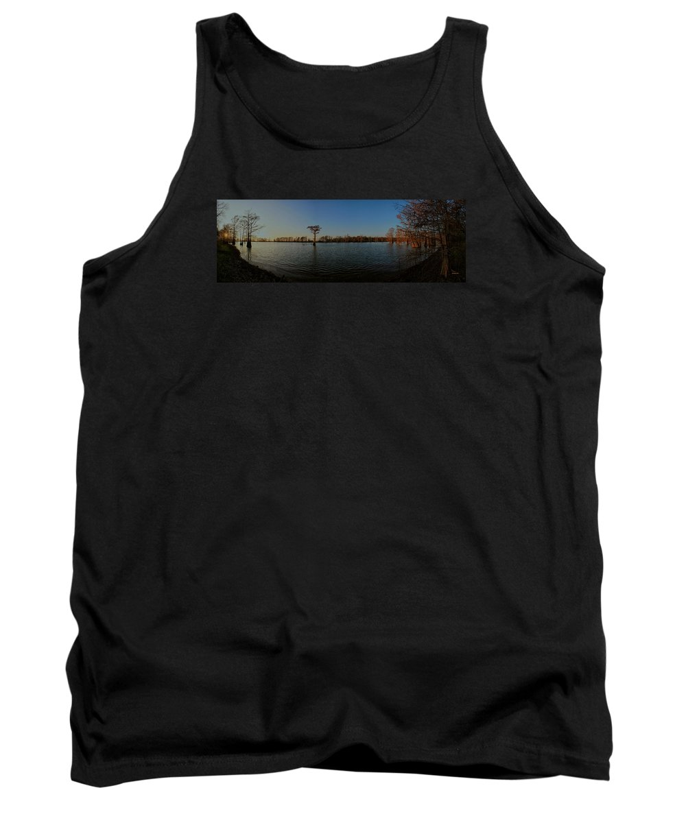 Cypress Trees Tank Top featuring the photograph Lonely In The Middle by Ron Burt