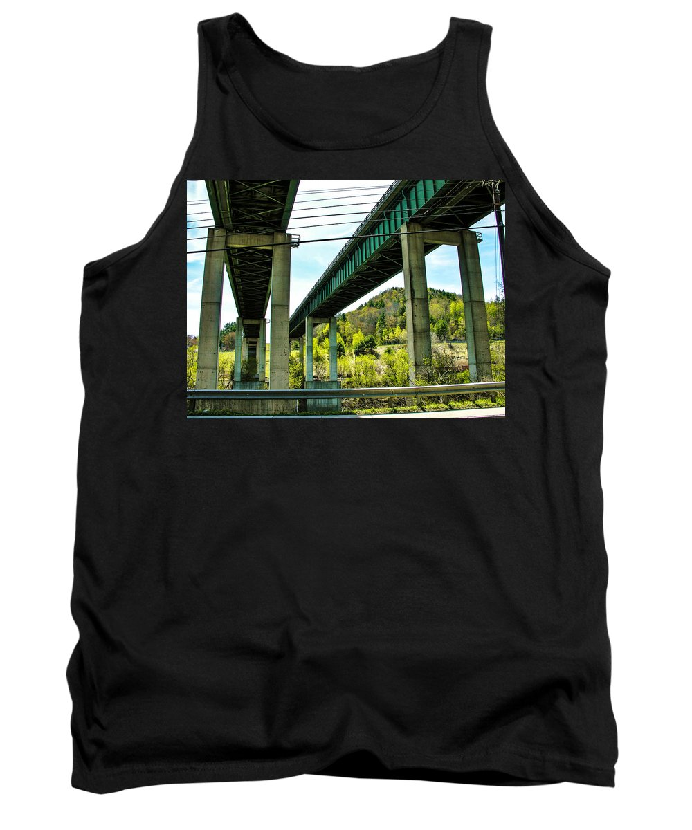 Bridge Tank Top featuring the photograph Longest Bridges In Vermont by Sherman Perry
