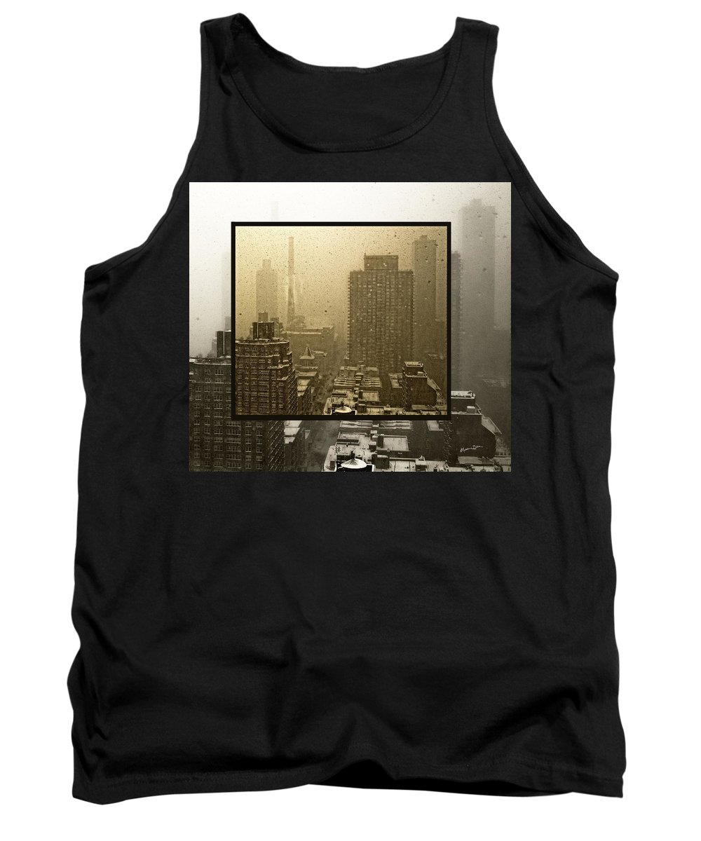 Snow Tank Top featuring the photograph Looking Out On A Snowy Day - Nyc by Madeline Ellis