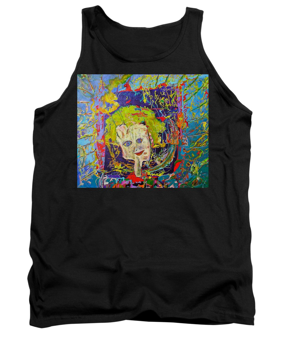 Hidden Tank Top featuring the painting Looking Through The Picture Frame by Catherine Helmick