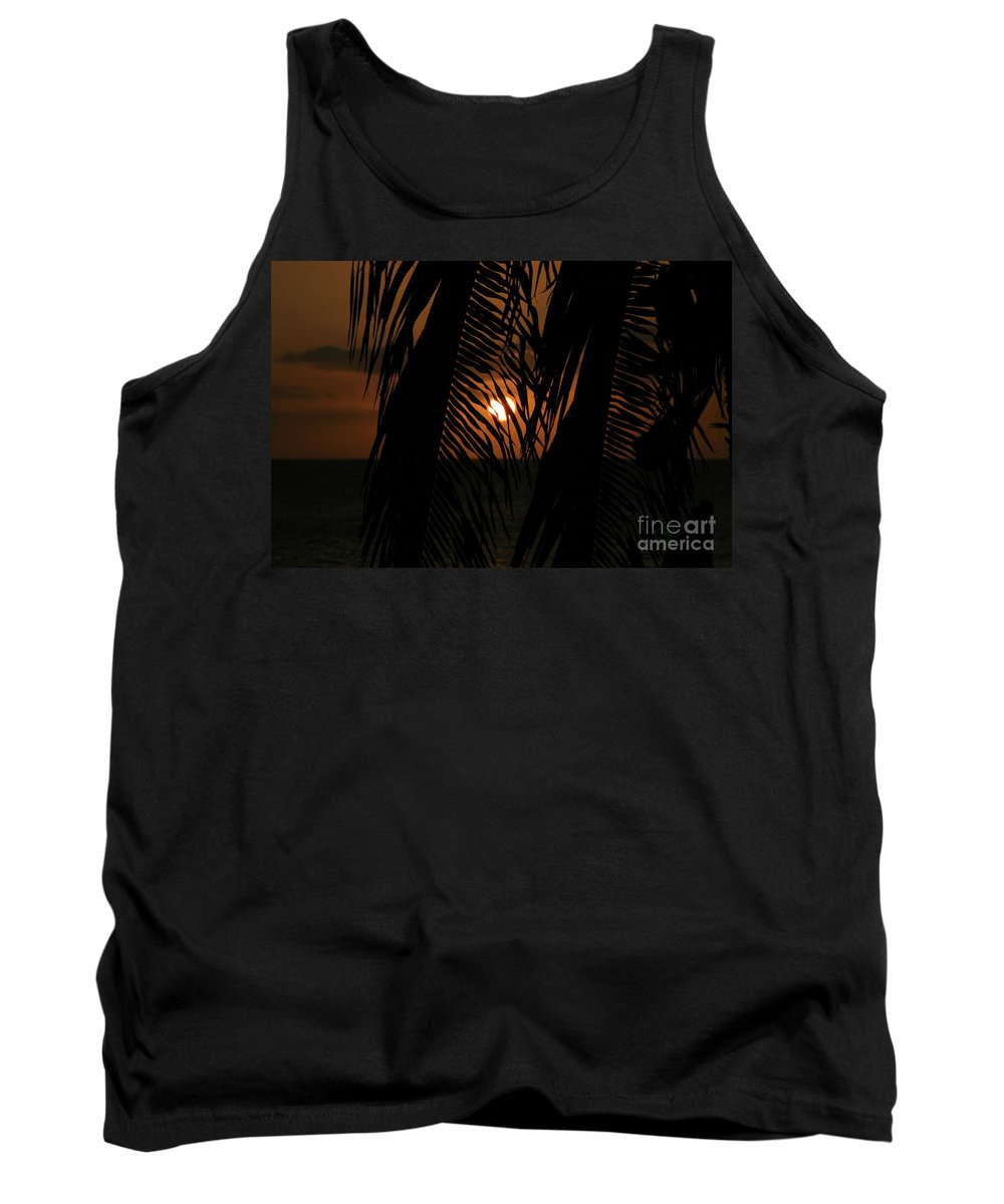 Aloha Tank Top featuring the photograph Lost And Found In Sunset Land by Sharon Mau