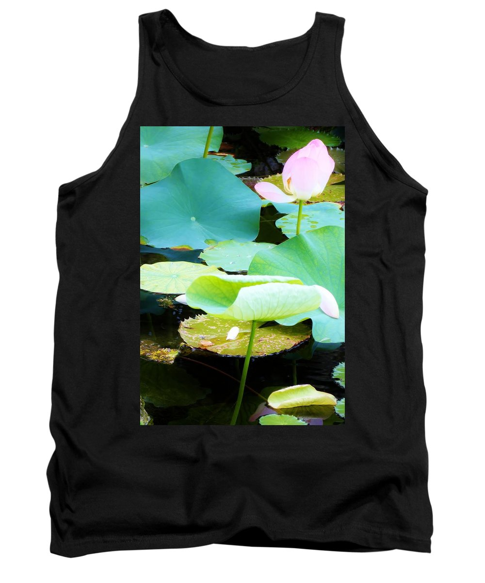 Color Tank Top featuring the photograph Lotus Lilly Pond by Amar Sheow