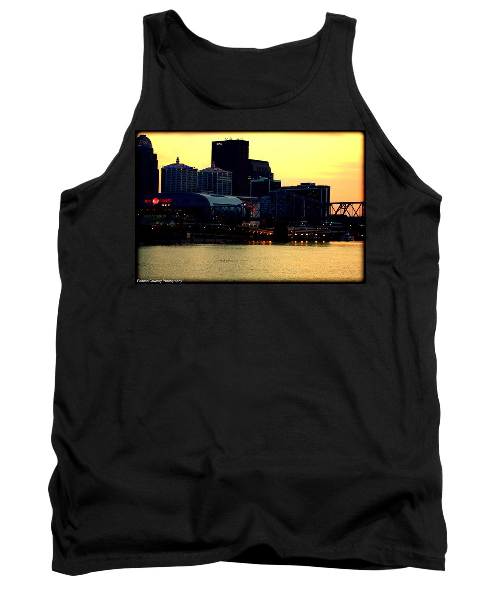 Boat Tank Top featuring the photograph Louisville Lights by Daniel Jakus