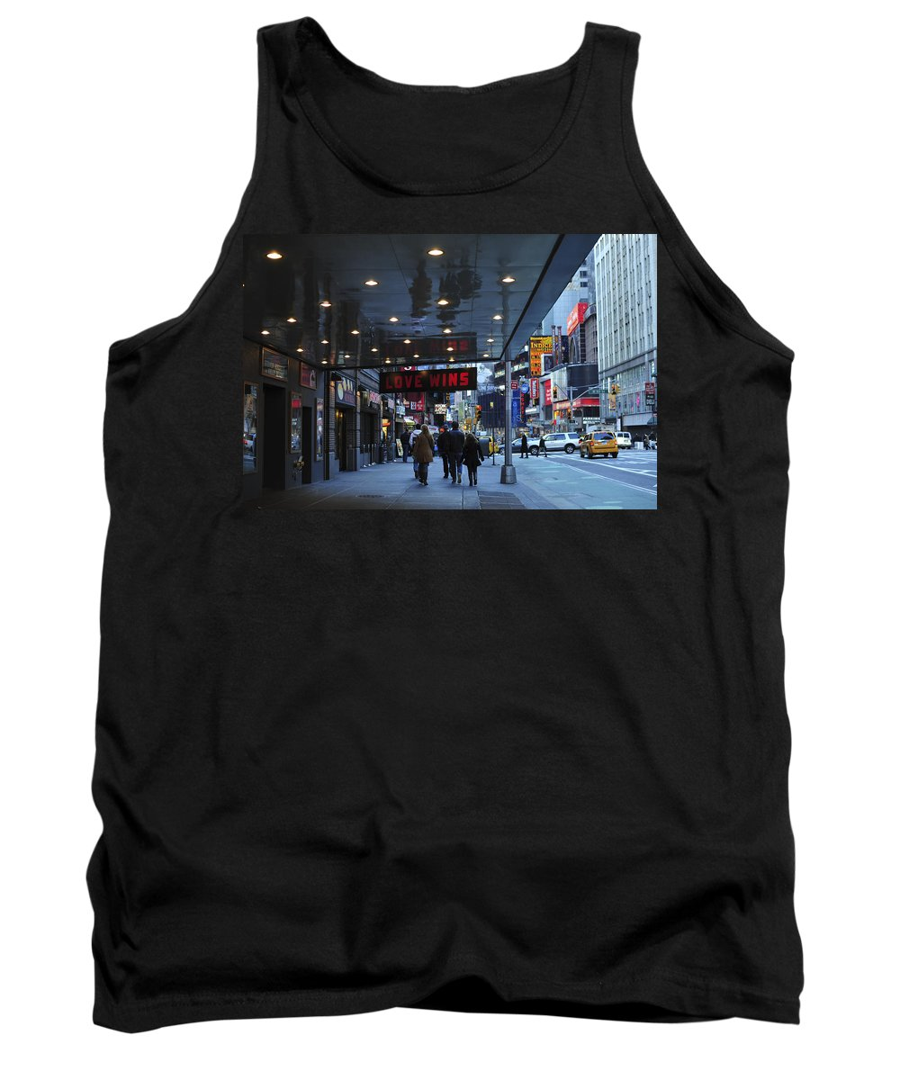 Love Wins Nyc Tank Top featuring the photograph Love Wins Nyc by Terry DeLuco