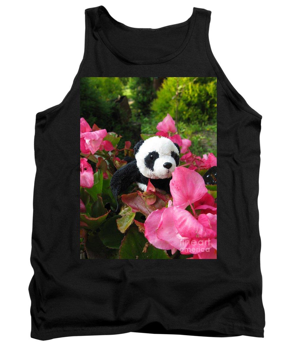 Baby Panda Tank Top featuring the photograph Lovely Pink Flower by Ausra Huntington nee Paulauskaite
