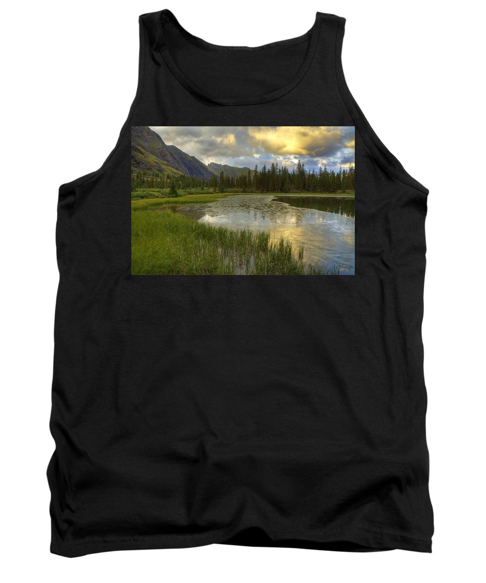 Colorado Tank Top featuring the photograph Lower Ice Lake by Alan Vance Ley
