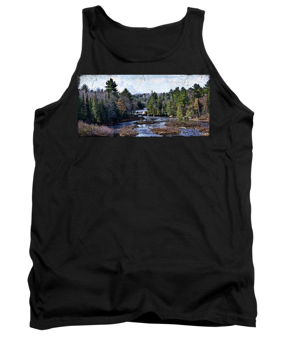 Evie Tank Top featuring the photograph Lower Tahquamenon Falls Michigan by Evie Carrier