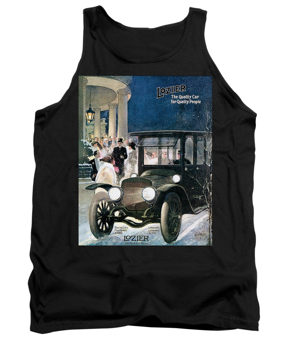 Advertisment. Tank Top featuring the digital art Lozier Cars - Vintage Advertisement by World Art Prints And Designs