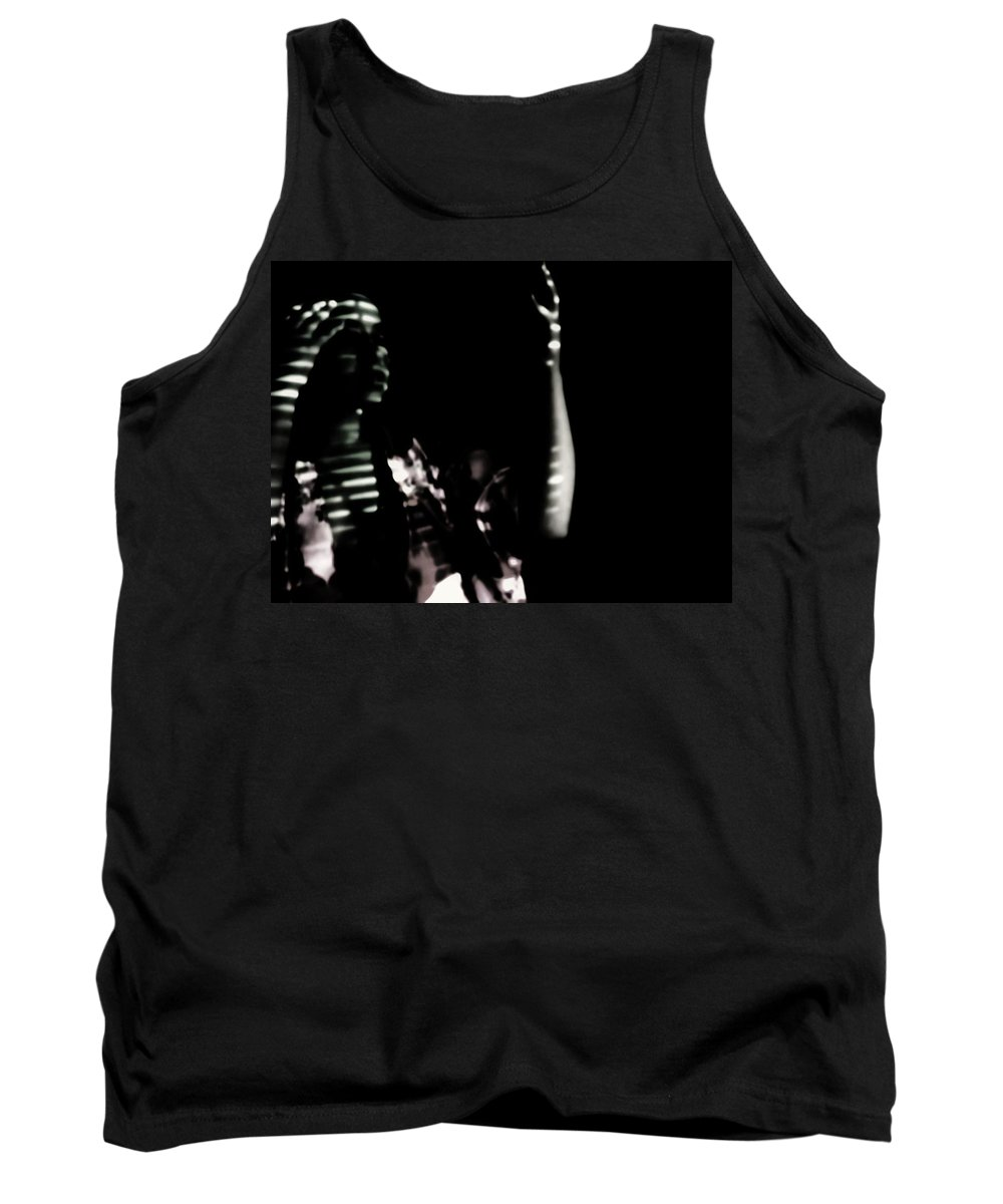 Black And White Shadows Emotive Dark Pain Women Tank Top featuring the photograph Lurid by Jessica Shelton