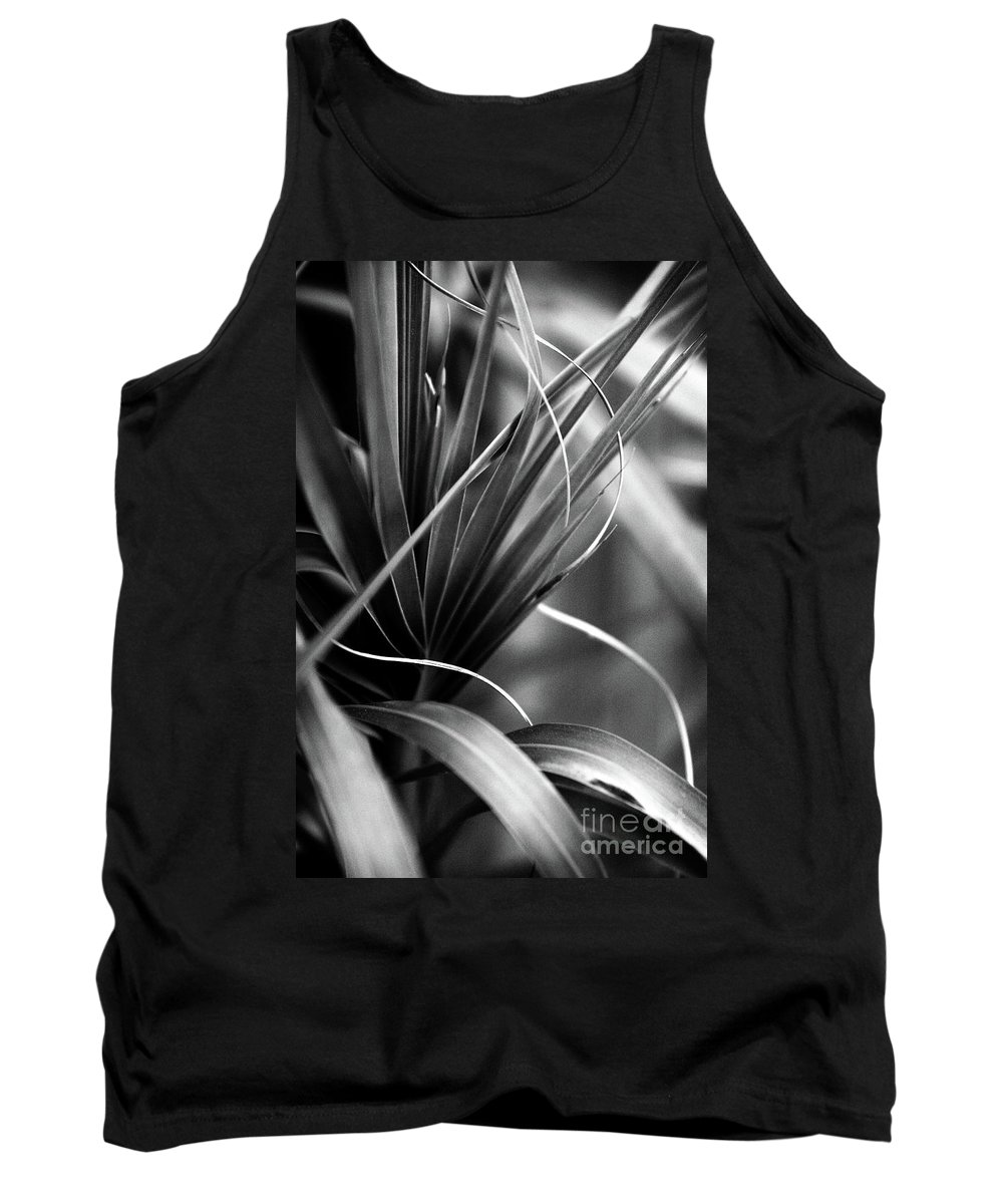 Lines Tank Top featuring the photograph Luscious Lines by Ellen Cotton