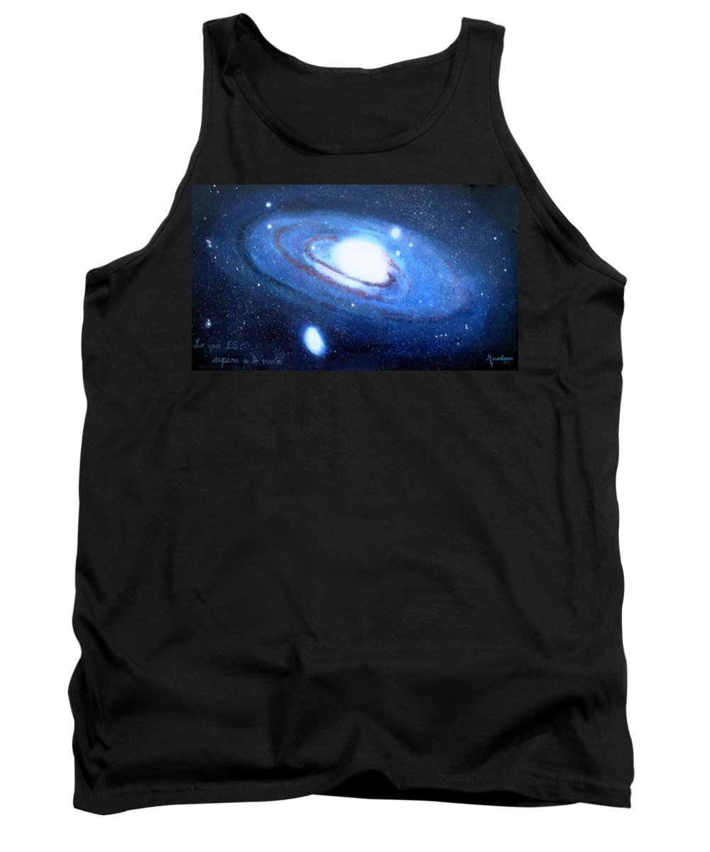 M31 Tank Top featuring the painting M31 Andromeda Galaxy by Silvana Miroslava Albano
