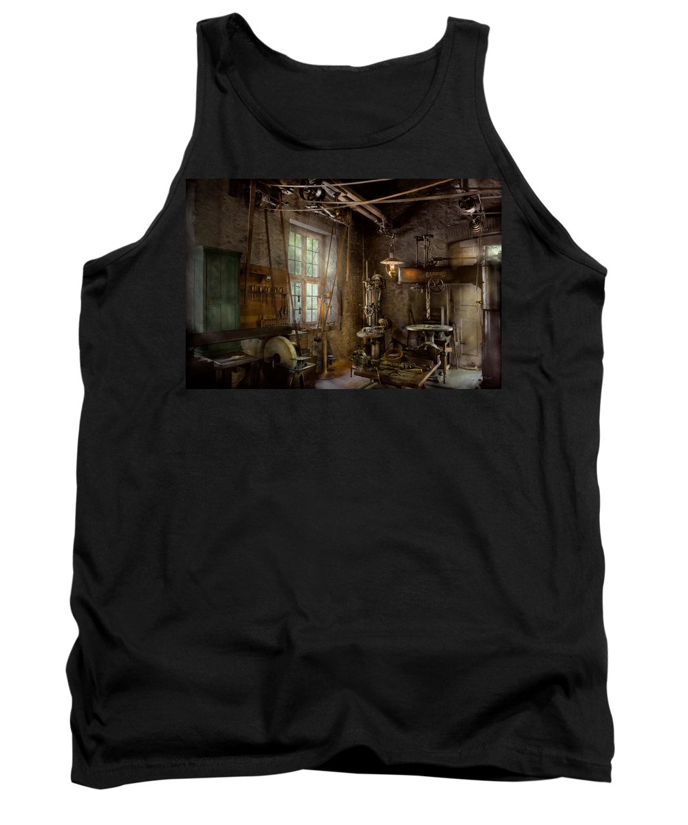Machinist Tank Top featuring the photograph Machinist - Industrial Revolution by Mike Savad