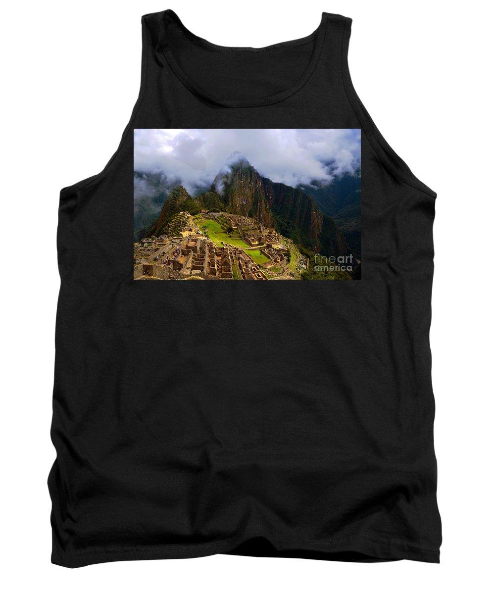 Machu Picchu Tank Top featuring the photograph Machu Picchu Overlook by Catherine Sherman