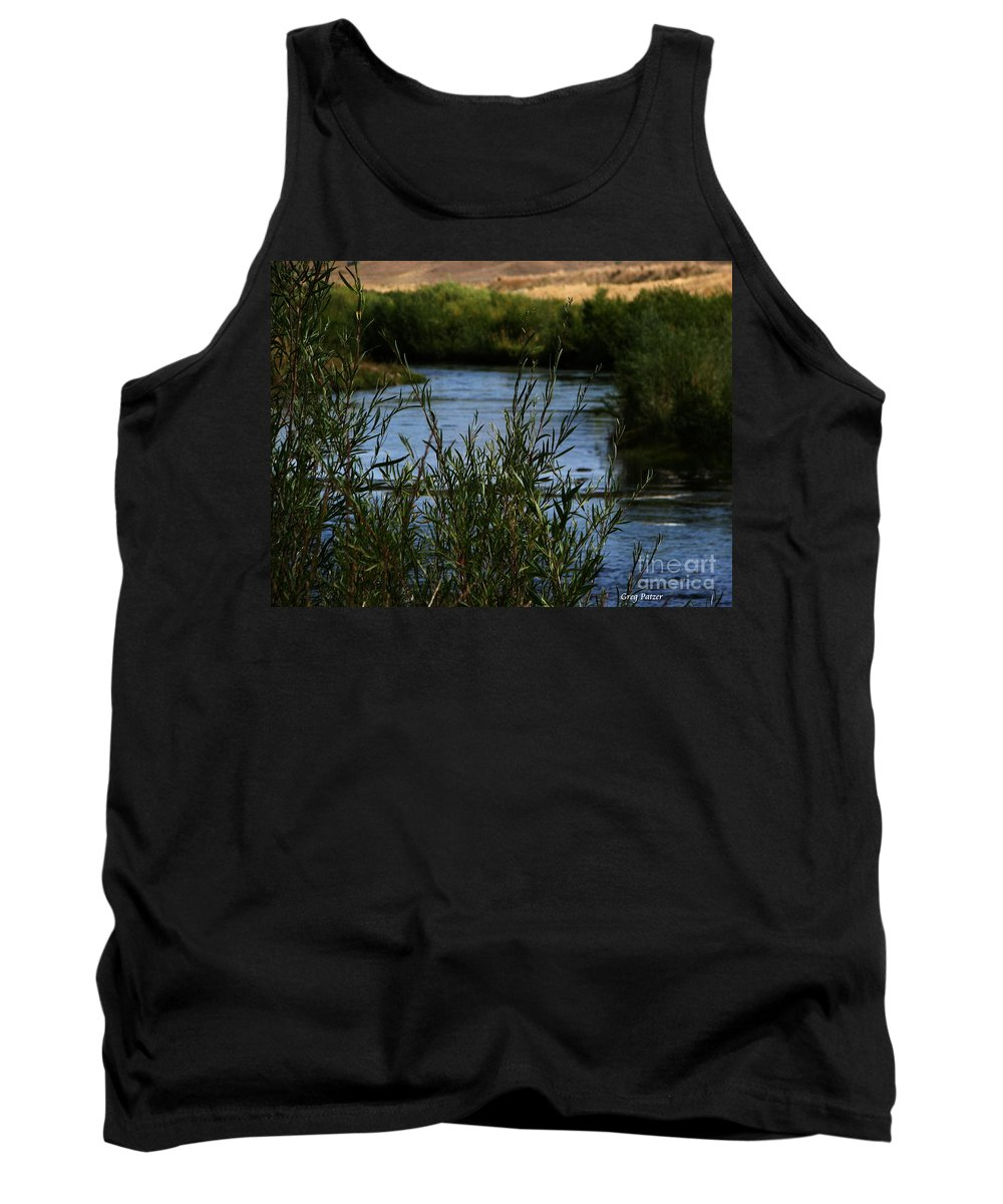 Madison River Tank Top featuring the photograph Madison River by Greg Patzer