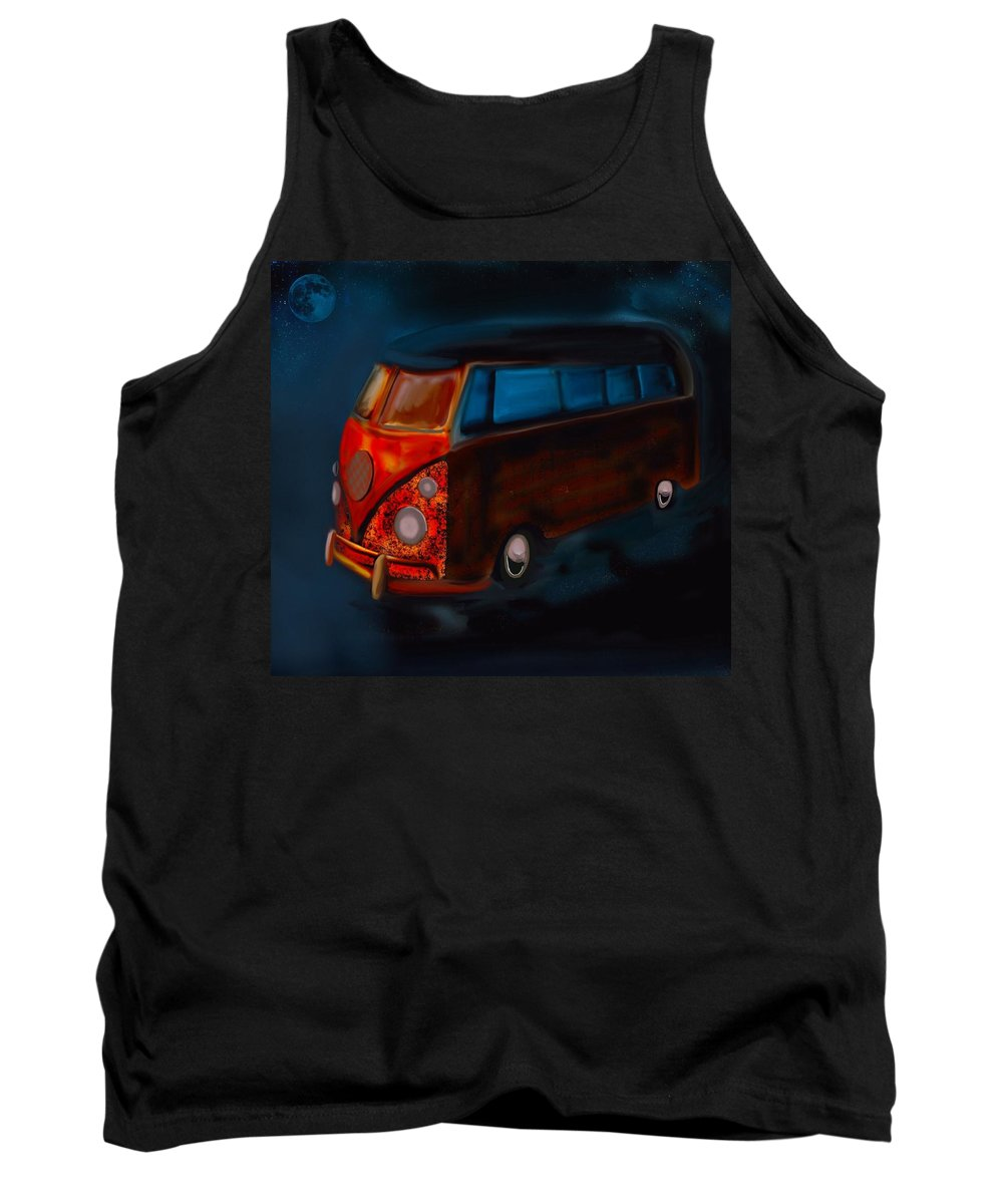 Vw Tank Top featuring the painting Magic Bus by Karen Harding