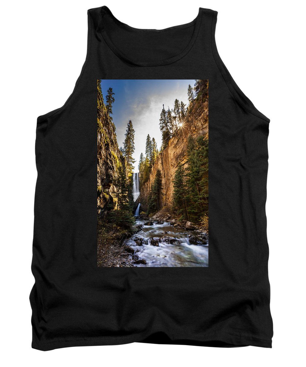 Nature Tank Top featuring the photograph Magnificent Mystic Falls by Steven Reed