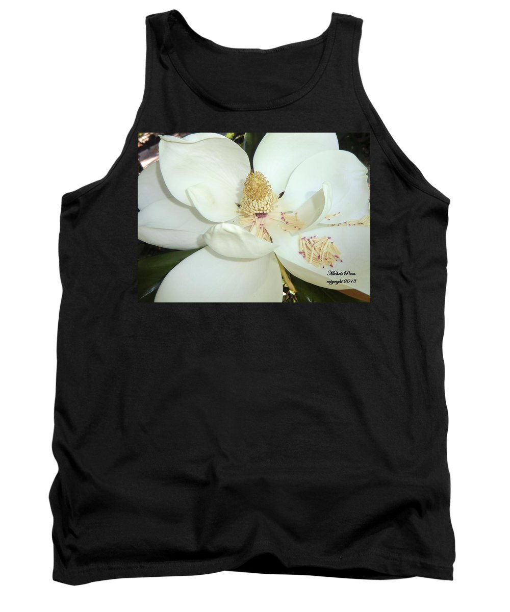 Flower Photograph Tank Top featuring the photograph Magnolia Love by Michele Penn