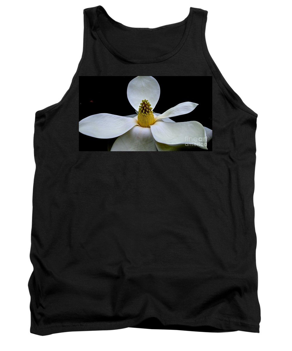 Magnolia Tank Top featuring the photograph Magnolia Beauty by Cheryl Cutler