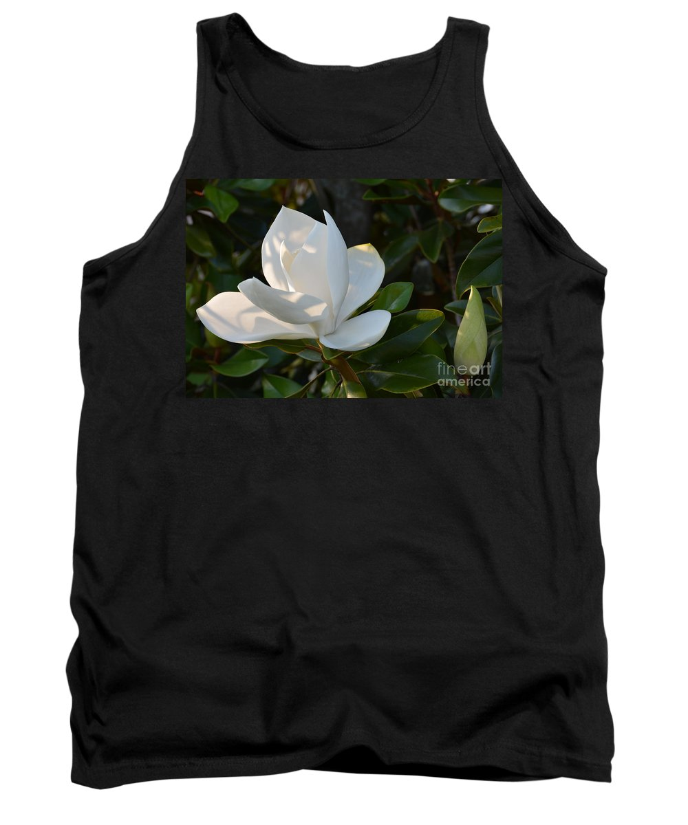 Magnolia Tank Top featuring the photograph Magnolia With Best Bud by Christine Dekkers