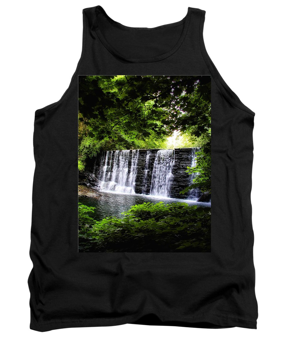 Main Tank Top featuring the photograph Mainline Waterfall by Bill Cannon