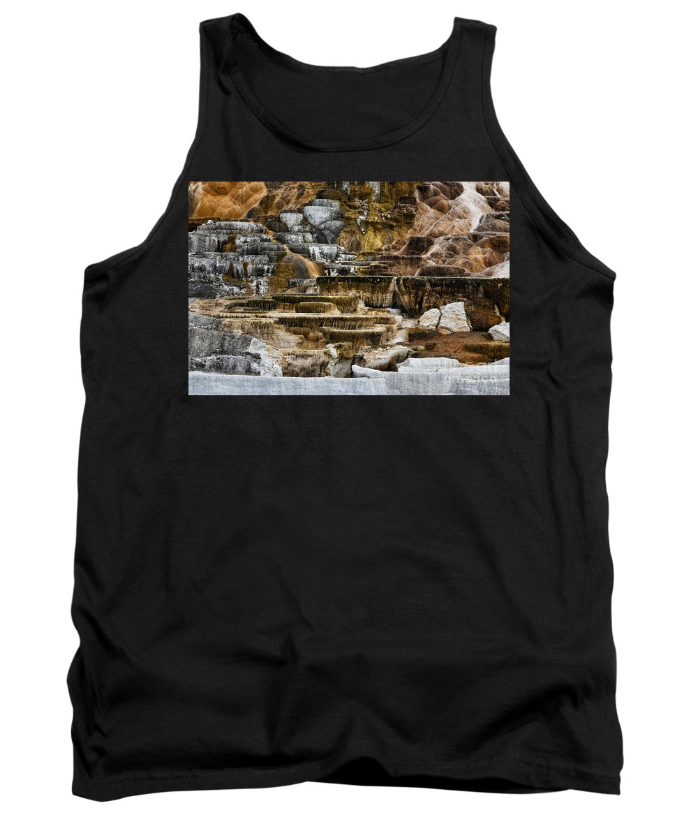 Yellowstone Tank Top featuring the photograph Mammoth Hot Springs - Yellowstone by Belinda Greb