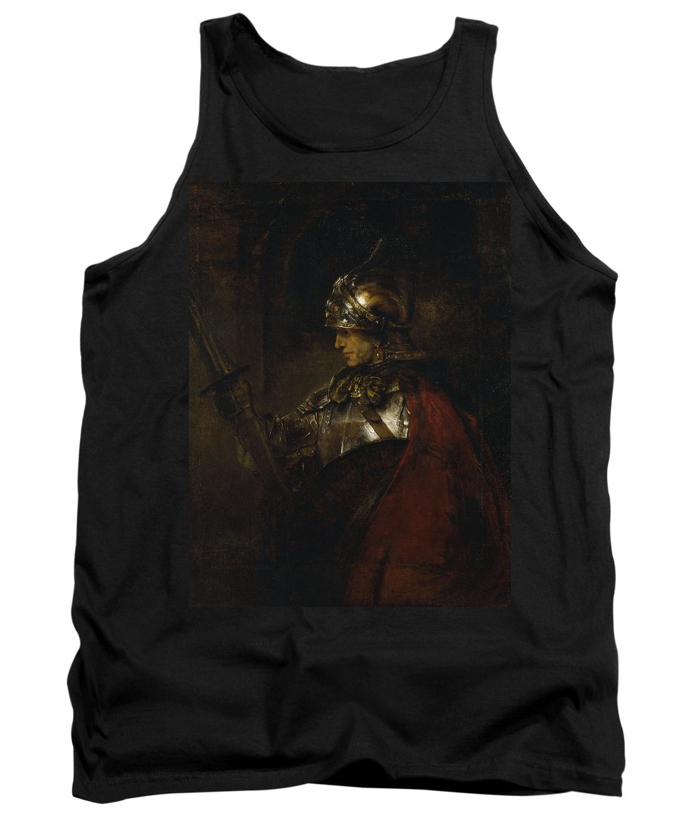 Rembrandt Tank Top featuring the painting Man In Armor by Rembrandt van Rijn
