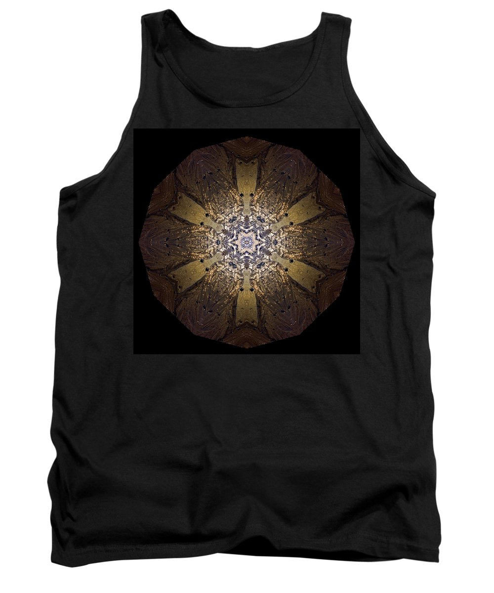 Mandala Tank Top featuring the photograph Mandala Sand Dollar At Wells by Nancy Griswold