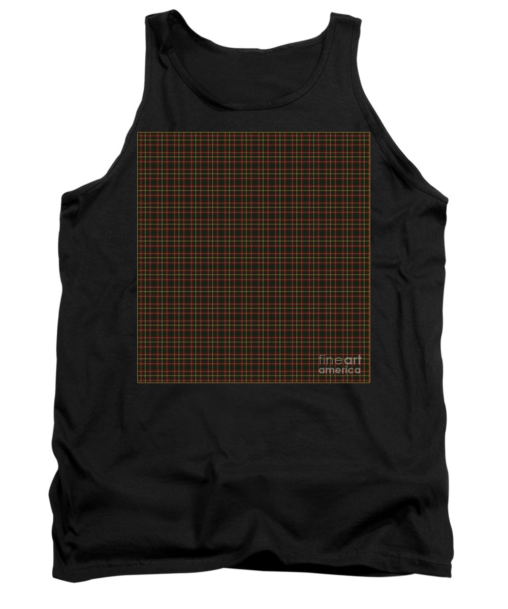 Maple Leaf Tartan Tank Top featuring the photograph Maple Leaf Tartan by Barbara Griffin